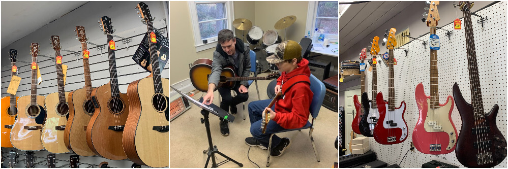 Guitar lessons for acoustic, electric, and bass guitars are quite popular here at Young America Music Schools!
