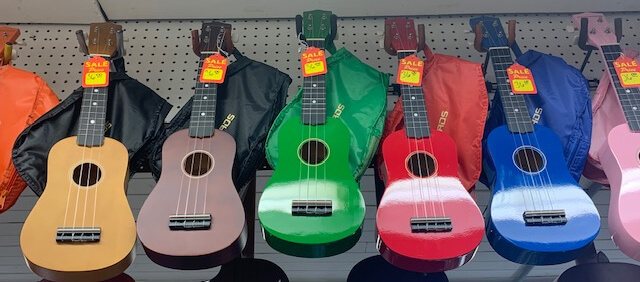 Ukulele lessons are just one things we offer at YAMS - repairs, expert advice, and more are all here!